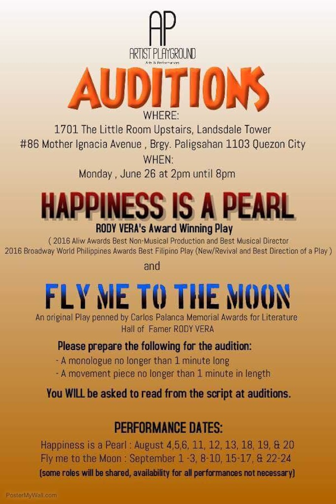 Artist Playground Auditions
